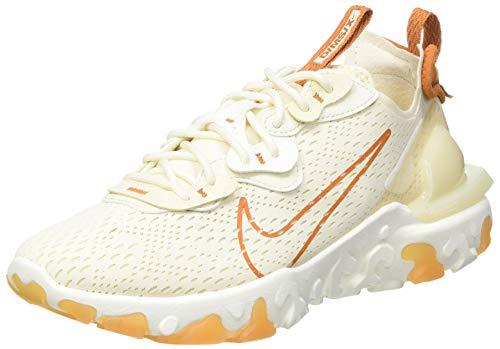 Nike NSW React Vision, Scarpe da Corsa Donna, Beige (Pale Ivory/Monarch-Coconut Milk-Pearl White-Sail), 37.5 EU