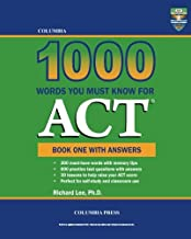 Columbia 1000 Words You Must Know for ACT: Book One with Answers (Volume 1)