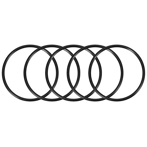 sourcing map O-Ringe aus Nitrilkautschuk 90 mm Außendurchmesser 80 mm Innendurchmesser 5 mm Breite, metrische Dichtung, 5er-Pack
