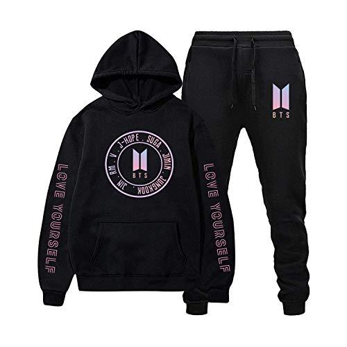 Love Yourself Hoodie Hip Hop Sweatshirt and Long Pants Fashion Sport Suit For Men Women XL