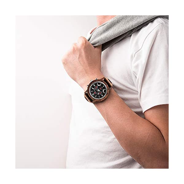 Engraved Wooden Watches for Men – Customized Wood Wrist Watches for Husband Boyfriend Dad Son