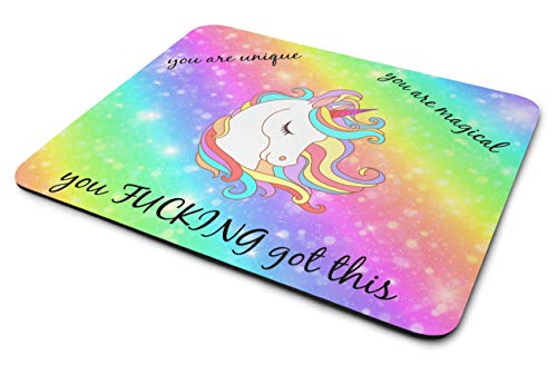 Funny Unicorn Mouse Pad - Gaming Mouse Pad - Premium Quality, Smooth, Versatile, Easy to Use and Built to Last - 10' x 11.5' - Medium