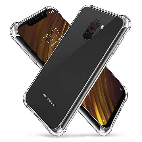 Voviqi Xiaomi POCOPHONE F1 Hülle, Handyhülle für Xiaomi F1 Crystal Clear Ultra Silikon Keine Verformung langlebig stoßfest Vier Ecken verdickt Schutzhülle TPU Case für Xiaomi F1-Transparent