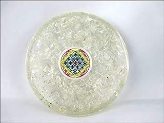 Crystal Quartz Edelsteen Thee Coaster Bloem van het Leven Ronde 40 Pagina Boekje Crystal Therapie India