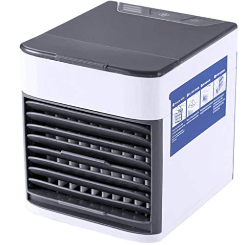 XINGDONG Mini Ventilador del Aire Acondicionado Spray Mini refrigerador de Aire Luz de Noche portátil Aire Acondicionado refrigerado por Agua Ventilador de enfriamiento de Escritorio USB Durable