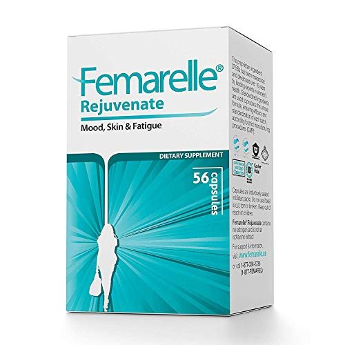 Femarelle Rejuvenate Pre-Menopause Relief for Mood, Skin, Fatigue & More. Clinically Shown to Relieve Menopausal Symptoms -1 Month Supply
