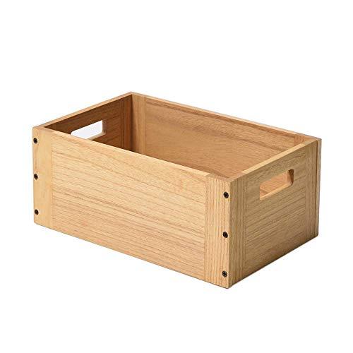 KIRIGEN cubo de almacenamiento de madera estante cubo de madera para el hogar Libros Ropa Juguete Natural