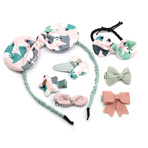 Girls Hair Accessories Set headband ties and clips with glitter bows for your baby princess hairstyle