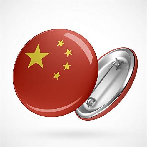 Hellweg Druckerei Button Anstecker Volksrepublik China Flagge Ostasien Flag Badge Abzeichen Pin