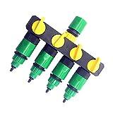 Válvula rápida ajustable 1 Set (6 PC) Conector de tubería de 4 vías de derivación de agua de desviación de agua por goteo riego de jardines 4/7 o 8/11 de montaje Conector de la manguera Fácil de opera