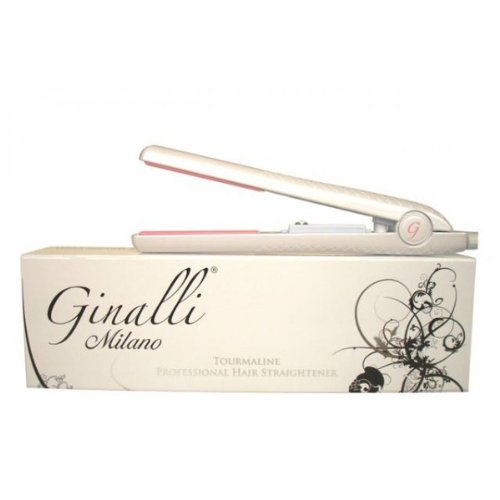 Ginalli Milano Tourmaline Black Flat Iron / Hair Straightener Dual Voltage 110v-240v