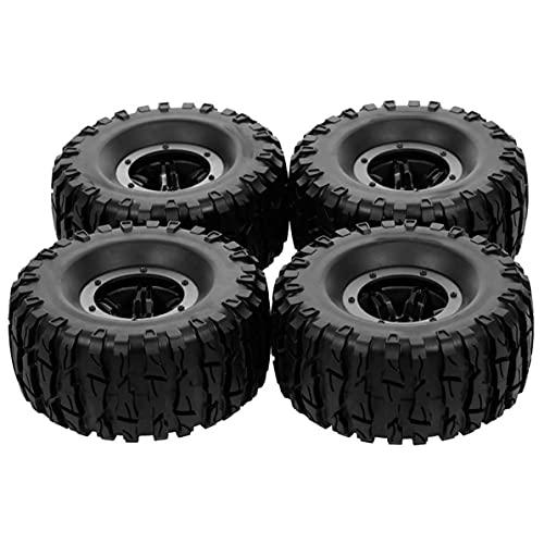 MeterBew1147 4 Piezas neumático neumático de 2,2 Pulgadas 135/62 en Forma de Diamante/Forma de Hacha antorcha para Accesorios de Modelo de Coche RC