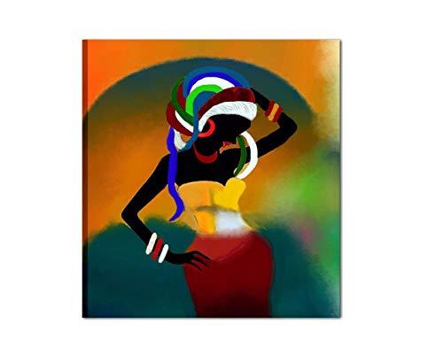 I Colori del Caribe Quadri Dipinti A Mano Etnici Colorati Donna per ARREDARE CASA Salone Ufficio Cucina Alta QUALITA' Made in Italy - Kenya