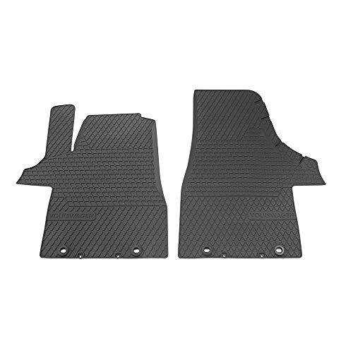Volkswagen 7H1061502 82V Fußmatten 2X Gummimatten Allwettermatten, schwarz, Schriftzug Drehknebel Befestigung