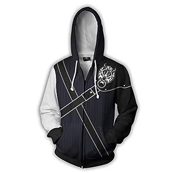 Men s Final Fantasy VII Remake Cloud Strife Sephiroth Cosplay Costume Hoodie Jacket