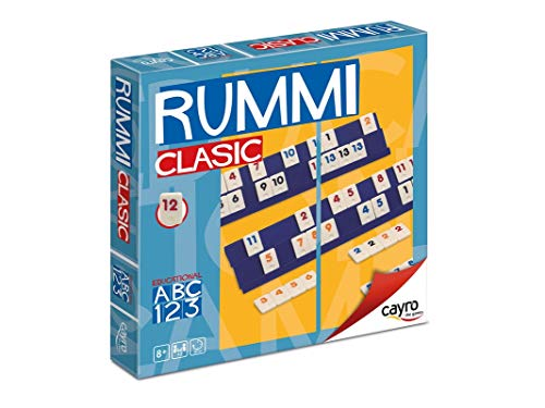 Cayro 946181 - Brettspiel Rummi für 4 Spieler