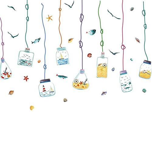 Jcnfa-adesivo da parete Bottiglia alla Deriva Scuola Materna Aula La Stanza dei Bambini Autoadesiva (Colore : A, Dimensioni : 75 * 115cm)