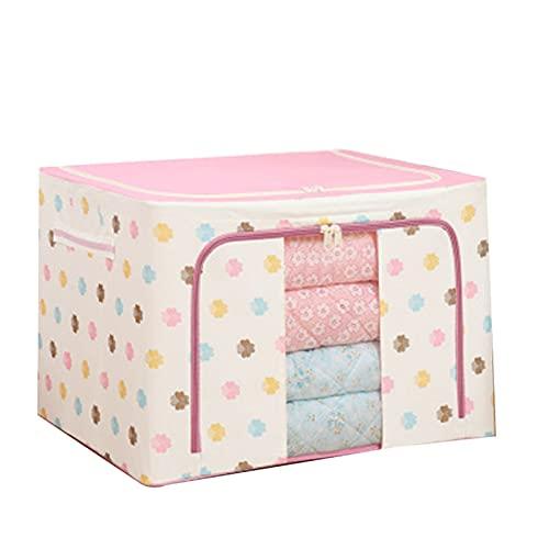 Pangyan Caja de almacenamiento de tela Oxford, para ropa, sábanas, mantas, almohadas, zapateros, organizador de contenedores