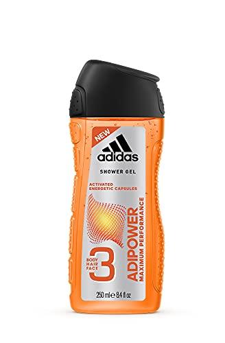 adidas adipower Duschgel für Herren 3-in-1 – Aktivierendes Shower Gel für Körper, Haare & Gesicht – pH-hautfreundlich – 1er Pack (1 x 250 ml)
