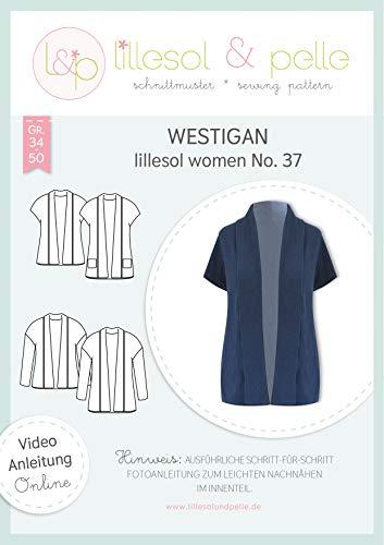 lillesol & pelle Schnittmuster lillesol Women No.37 Westigan in Größe 34-50 zum Nähen mit Foto-Anleitung und Video