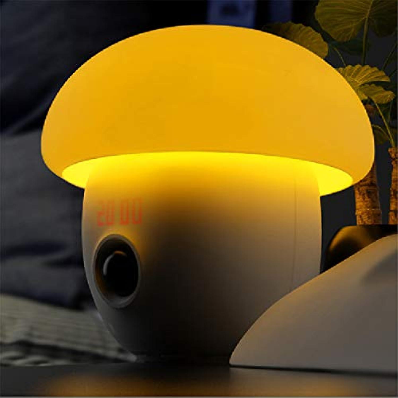 Road&Cool Lichtwecker Wecker LED Intelligent Schlafen USB Sensor Bett Alarm Nachtlicht (17 × 17 × 17 cm)