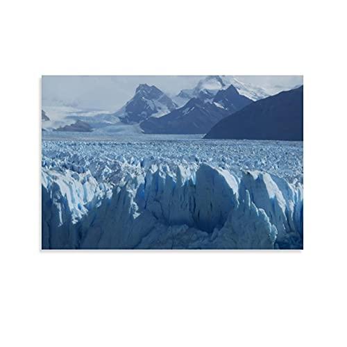 Cartel de arte argentino de Glacier Perito Moreno en Argentine Art Cuadros sobre lienzo Arte Moderno Decorativos de Pared Decoración del Hogar Unframe-style1 80 x 120 cm