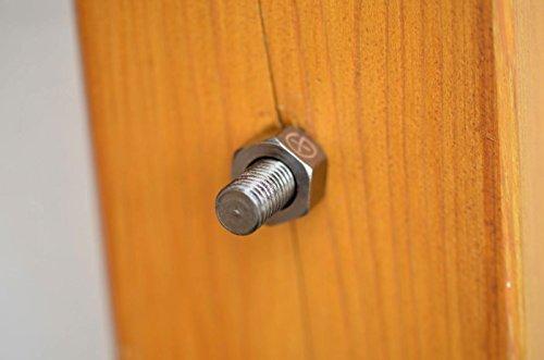 Geocaching Versteck Silberne magnetische Schraube mit Geocaching Logo - incl. Dichtungsring und Rite in The Rain Logstreifen - Geheimversteck