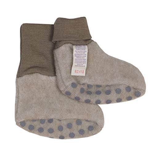 Cosilana Baby Fleece Schühchen kbT Wolle Bio Baumwolle (50-56, Lattemacchiatio- Melange)