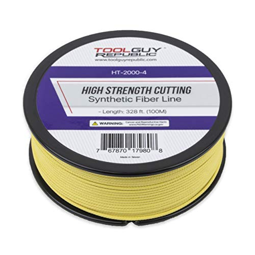 TOOLGUY REPUBLIC Reusable Windshield Auto Glass Removal High Strength Cutting Synthetic Fiber Line - 100 m / 328 ft