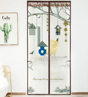 Anti-Moskito-Tür Vorhang Magnetbildschirm Tür Sommer Bildschirm Fenster Anti-Fly Belüftung Home Schlafzimmer Trennwand Vorhang frei Stanzen Klettverschluss automatische Adsorption A2 B80xH210