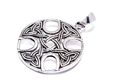 Windalf Celtic Irish Silberanhänter KELTOI 3 cm Kelten Kreuz Skandinavischer Schmuck Nordische Mythologie Amulett 925 Sterlingsilber