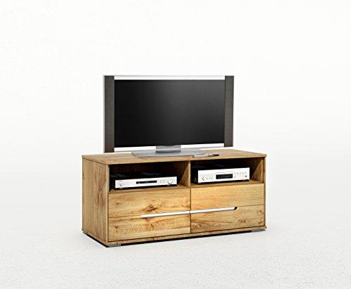 TV-Kommode Lowboard Wildeiche Massiv Slimline mit durchgehenden Lamellen 2998 exsopo