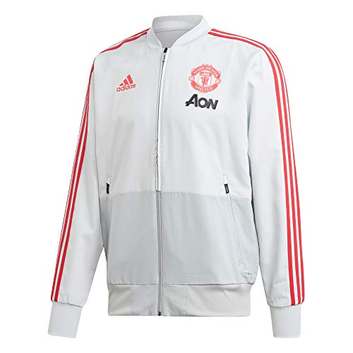 adidas Performance Manchester United Trainingsjacke Herren grau/rot, XL