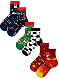 Many Mornings Kinder Socken Gaming Fußball Feuerwehr - 3 Paar - 27-30
