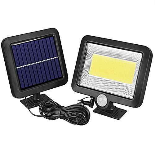 Lámparas solares para exterior,100 LED Foco exterior con detector de movimiento,lámpara solar de pared para jardín,resistente al agua,3 modos,120°,superbrillante,lámpara solar para,jardines y terrazas