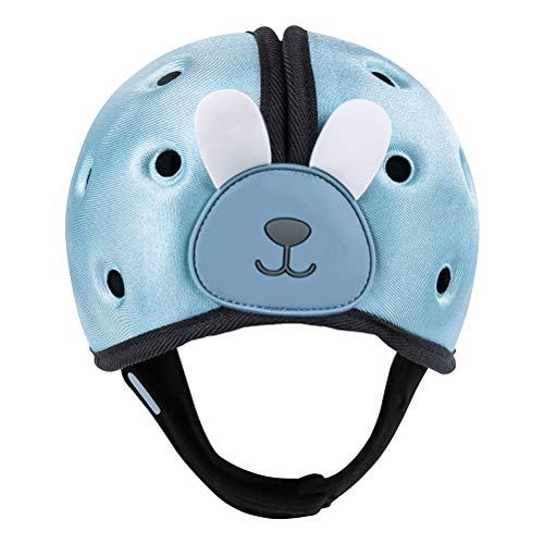 Casco de bebé para niños, Sombrero Protector para niños pequeños, Sombrero de algodón Protector para la Cabeza, Casco de Seguridad Ajustable para niños y niñas ⭐