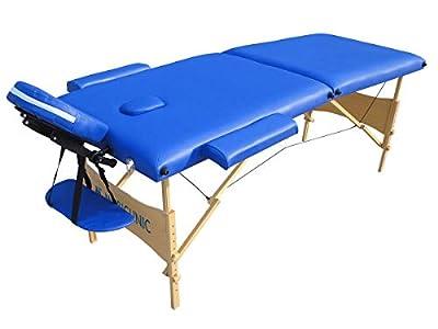 Mobiclinic, Light, Cama de Masaje, Camilla fisioterapia plegable, Reposacabezas, Masaje, Portátil, Madera, 186x60 cm, Azul