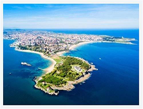 ZZXSY Puzzles Niños Vista Panorámica Aérea De La Ciudad De Santander. Santander Es La Capital De La Región De Cantabria En España Apto