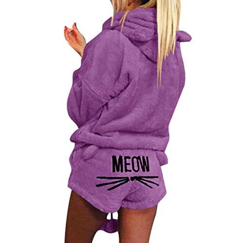 MEIHAOWEI Nuevas Pijamas Conjunto Piezas Otoño Invierno