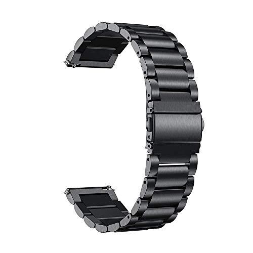 SXYRN Bandas de Reloj, Correas de Reloj de 20 mm para Reloj Correa de Reloj Inteligente Activa para Pulsera