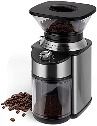 Conical Burr Coffee Grinder, Stainless S