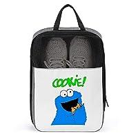 シューズケース クッキーモンスター シューズ袋 シューズバッグ トラベル 旅行ポーチ 旅行バッグ 靴収納 手持ち付き 収納袋 靴入れ 多機能 防水 防塵 トラベル用 2点セット 大容量