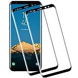 NASFUEY Cristal Templado para Samsung Galaxy S8, [2 Pack] Alta Definicion, 9H Dureza Vidrio Templado, Sin Burbujas, Anti-Huella, Anti-Arañazos Cristal Vidrio Templado para Samsung Galaxy S8
