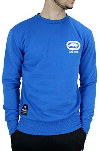 Ecko - Sudadera de manga larga para hombre, color negro, azul, gris, azul marino Azul azul XXL