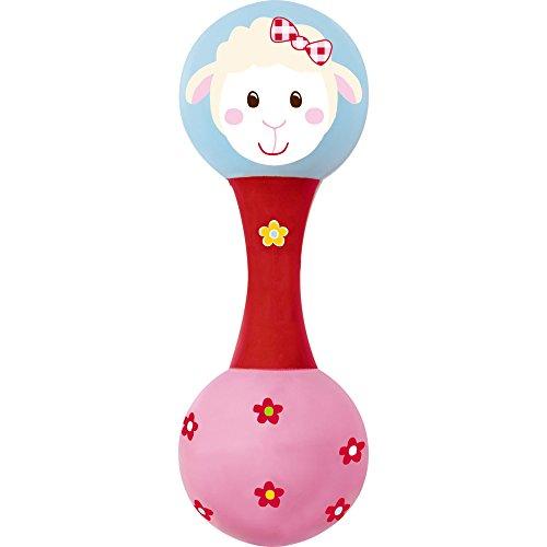 Spiegelburg 13791, Maracas-sonaglio per neonato - giocattolo prima infanzia - pecorella