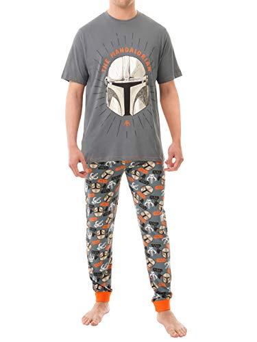Star Wars Pijamas para Hombre The Mandalorian Multicolor X-Large