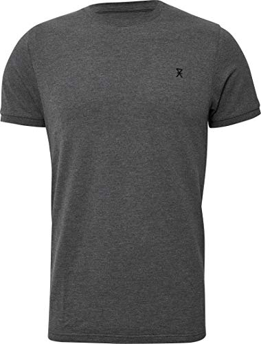 jbs of Denmark T-Shirt Herren Rundhals Dunkelgrau Melange Pique Ultra Soft Touch und hohe Atmungsaktivität durch Bambus-Baumwoll Gewebe (Ohne Kratzenden Zettel) Schnelltrocknend, XL