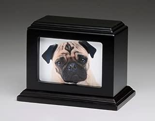 Pet Urn Peaceful Pet Memorial Keepsake Urn,Photo Box Pet Cremation Urn,Dog Urn,Cat Urn,Small Animal Urn, Size,Large, Color,Mahogany, 50 cu.in
