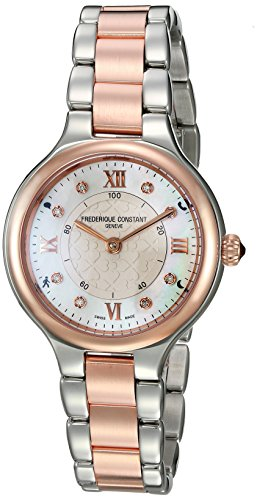 Frederique Constant Women 's ' Horologicalスマート' Swiss QuartzステンレススチールCasual Watch, Colo...