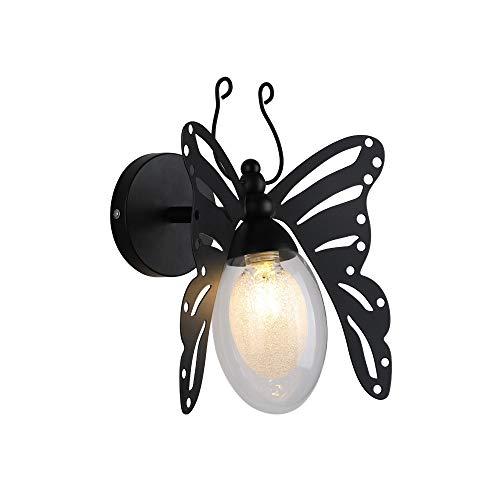 TRRYHZAG Bambini Indoor Light Parete del Metallo Farfalla Room Decoration Sconce Night Lights Fixture Creative Design Acrilico del Paralume Lighting